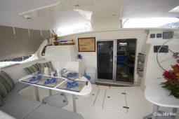 Caribbean BVI SVI Simonis 58 ft Sailing Catamaran aft cockpit
