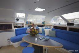 Caribbean BVI SVI Simonis 58 ft Sailing Catamaran saloon