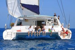 Caribbean BVI Voyage 58 ft Catamaran boarding platform