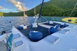 Caribbean BVI Voyage 58 ft Catamaran foredeck