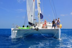 Caribbean BVI Voyage 58 ft Catamaran under sail