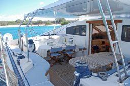 Caribbean Grenadines Privilege 65 ft Sailing Catamaran cockpit area