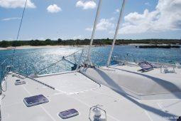Caribbean Grenadines Privilege 65 ft Sailing Catamaran foredeck area