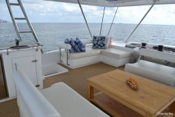 Caribbean Saint Martin Leopard 58 ft Sailing Catamaran fly bridge