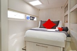 Caribbean Saint Martin Leopard 58 ft Sailing Catamaran queen cabin