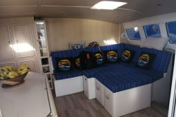 Mozambique Lesal 53 ft Power Catamaran saloon area